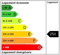 Consomation énergie : 250